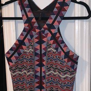 Bcbg Multi colored mini dress